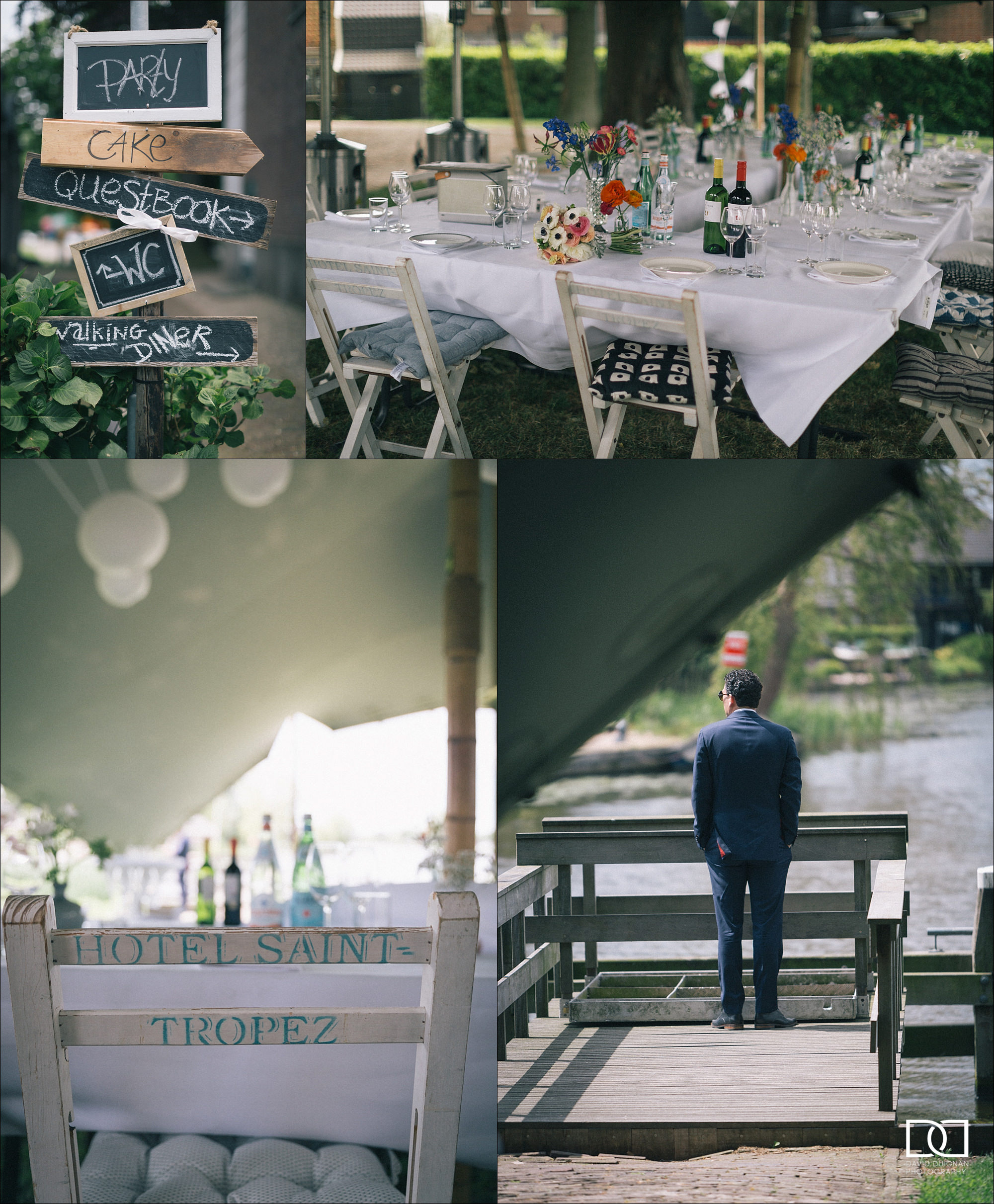 outdoor wedding table and chairs in Amsterdam