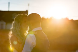 wedding couple at sunset in west of ireland