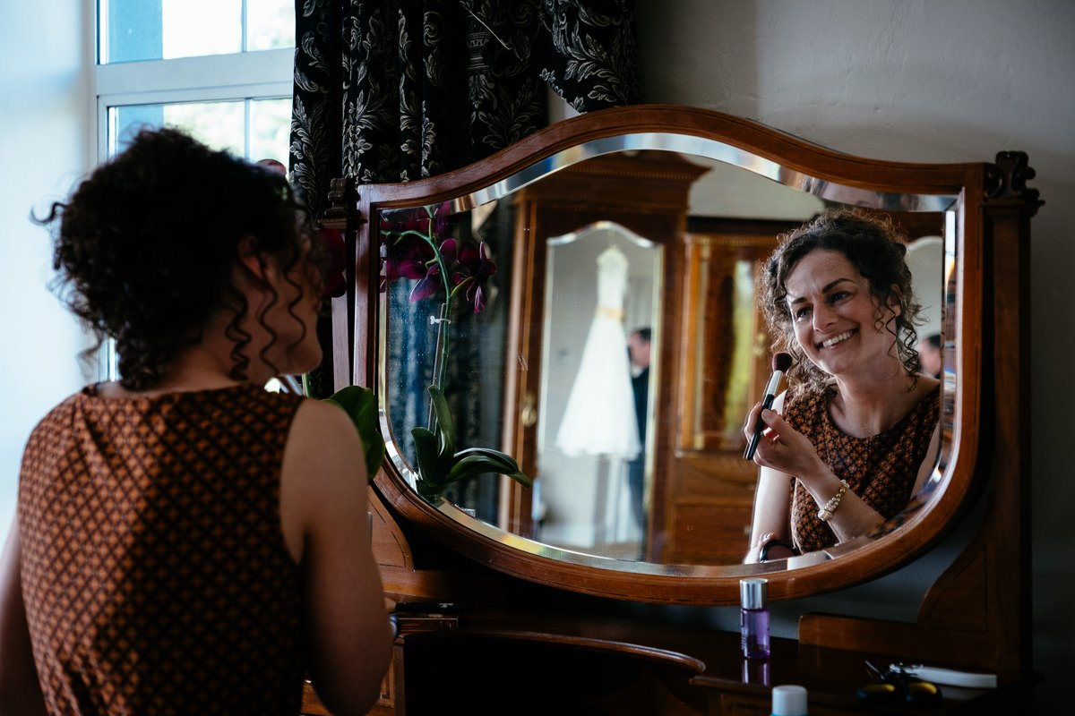 bridal preparations at the Castle Oaks House Hotel