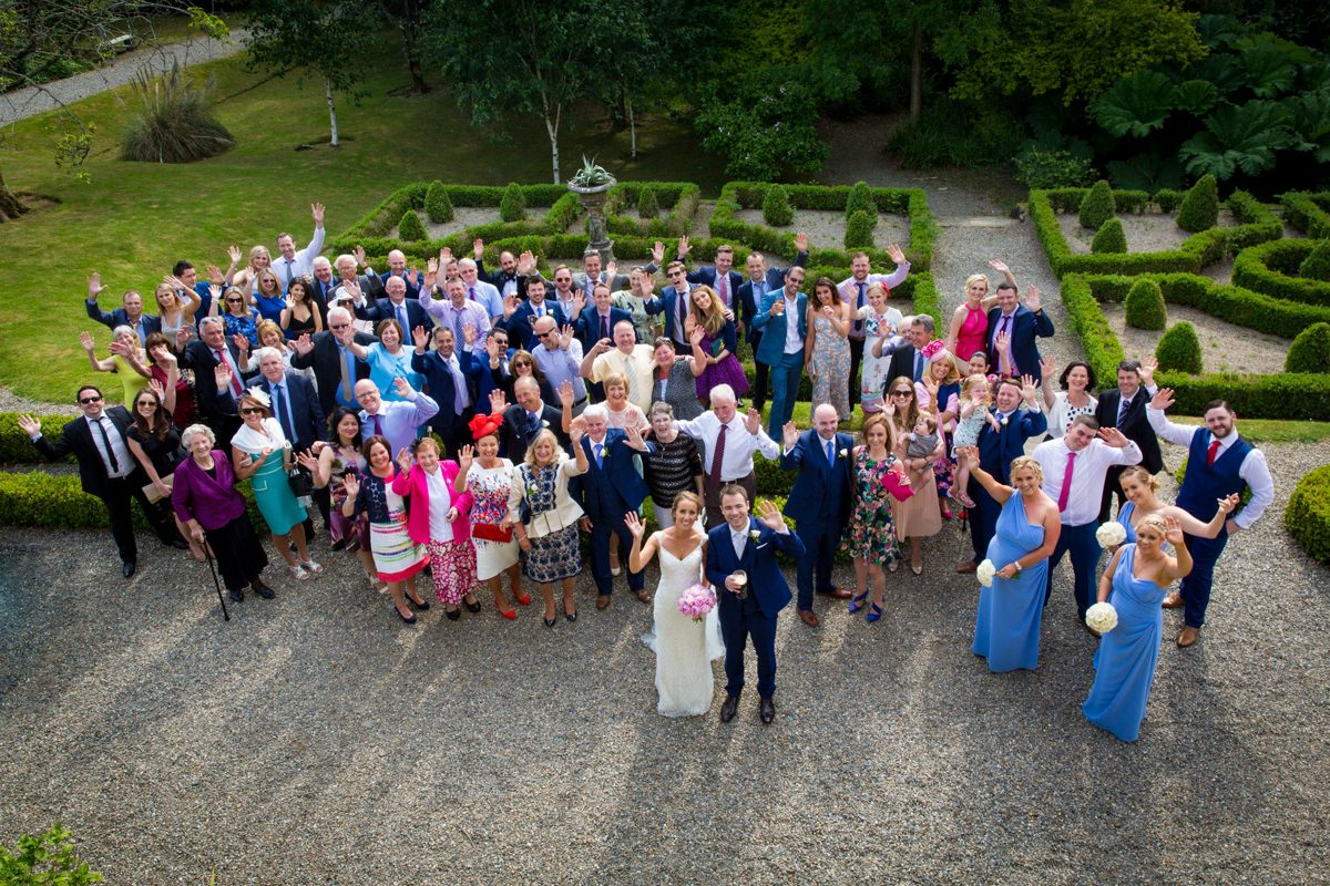 outdoor wedding marlfield house gorey wexford 0126