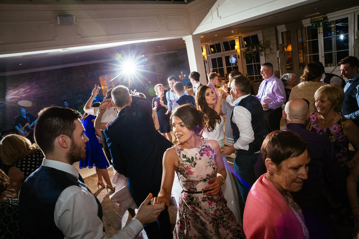 guests dancing at tankardstown house