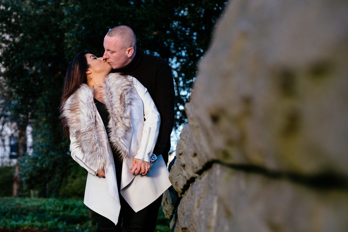 winter engagement photo shoot st stephens green dublin 0058