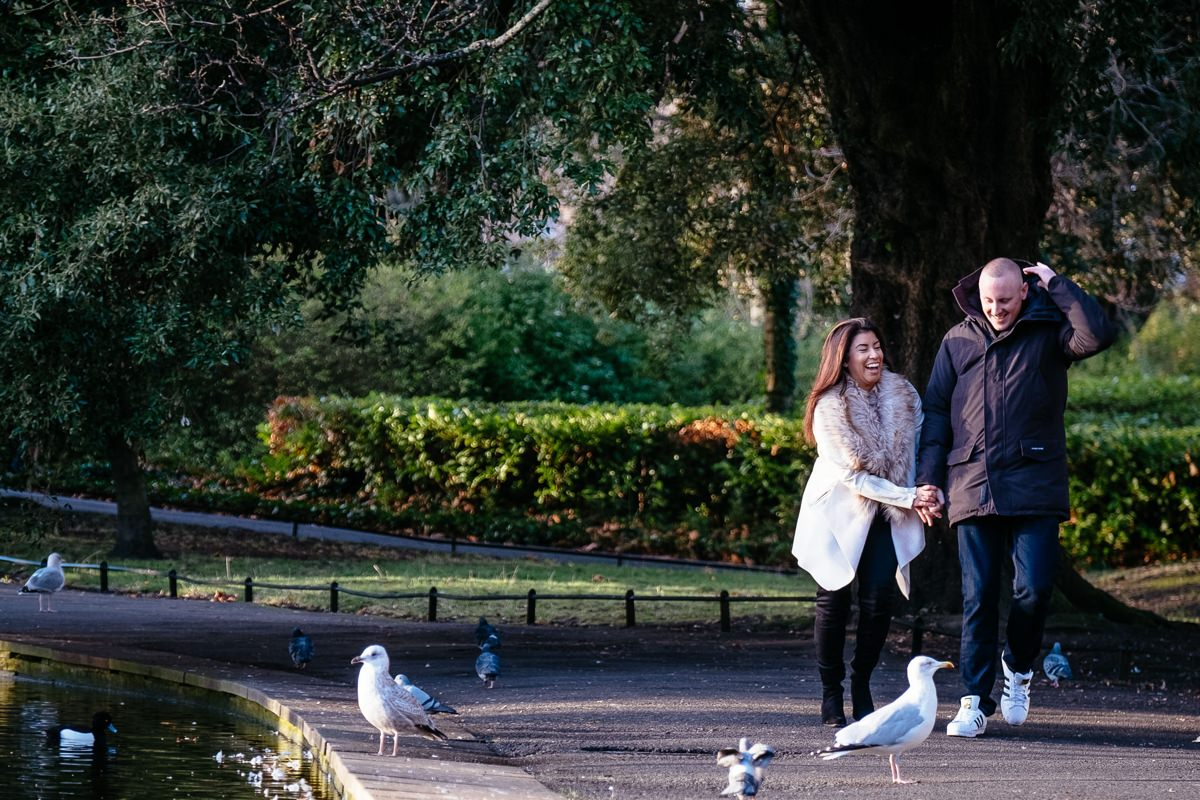 winter engagement photo shoot st stephens green dublin 0060