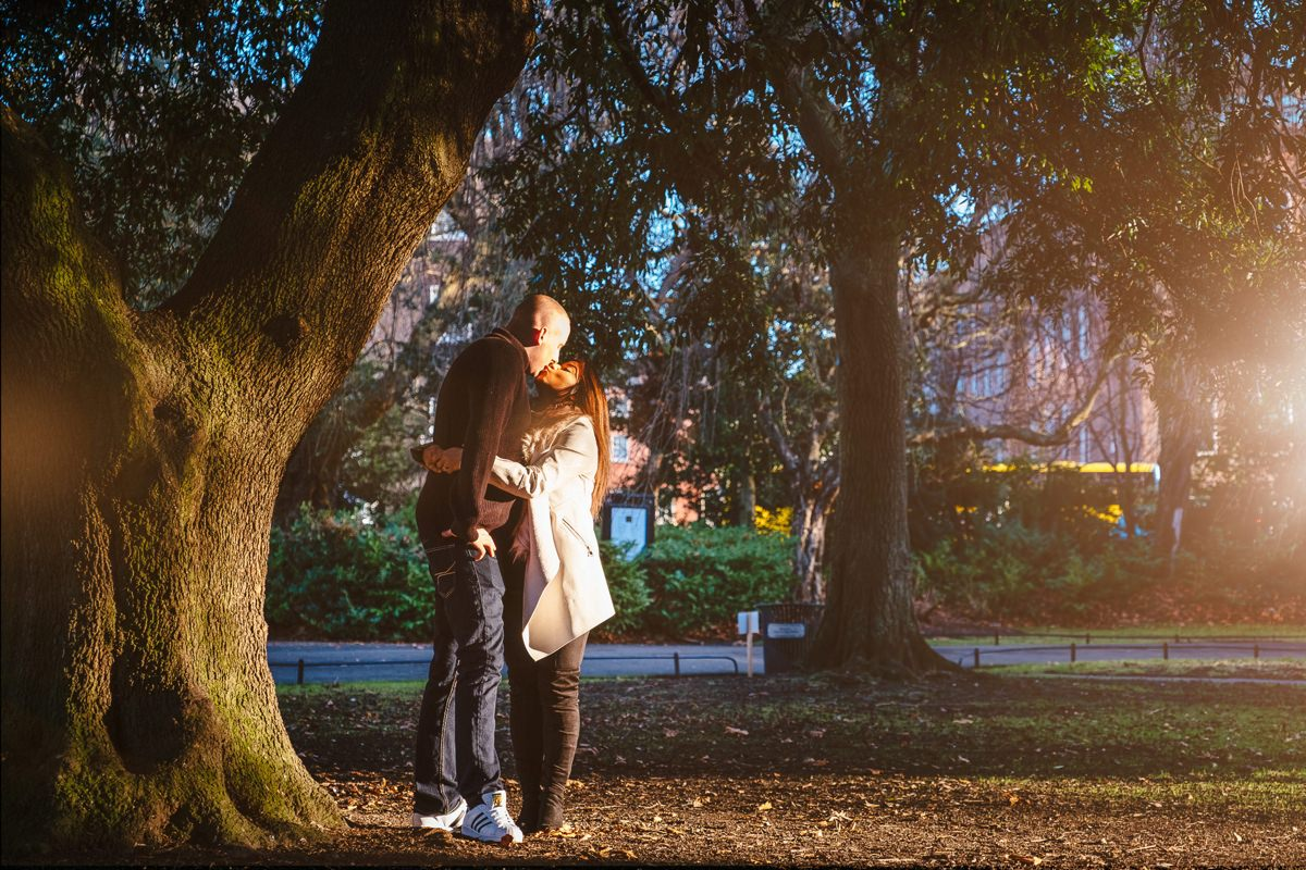 winter engagement photo shoot st stephens green dublin 0064