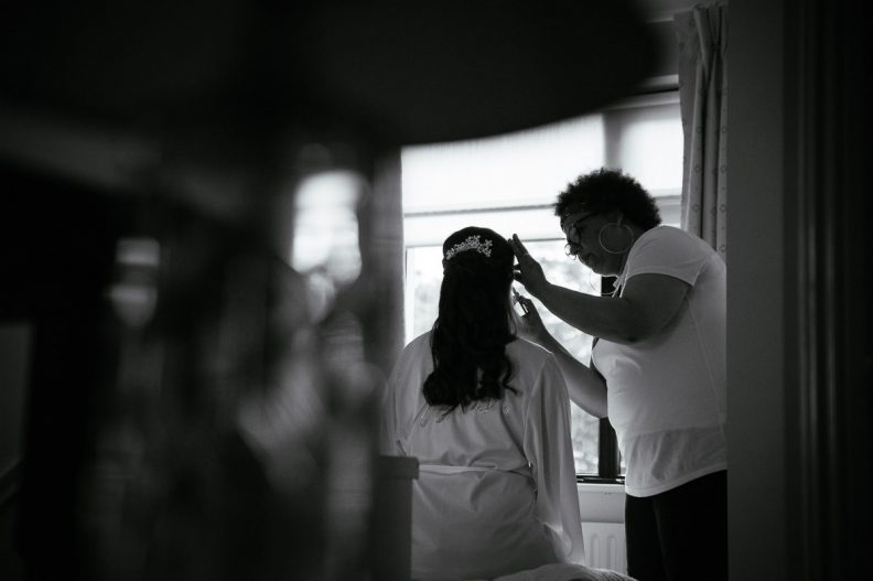 bridal preparations at a K Club Wedding