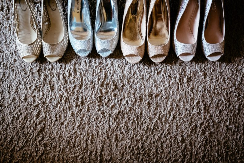 bridesmaids shoes at a K Club Wedding