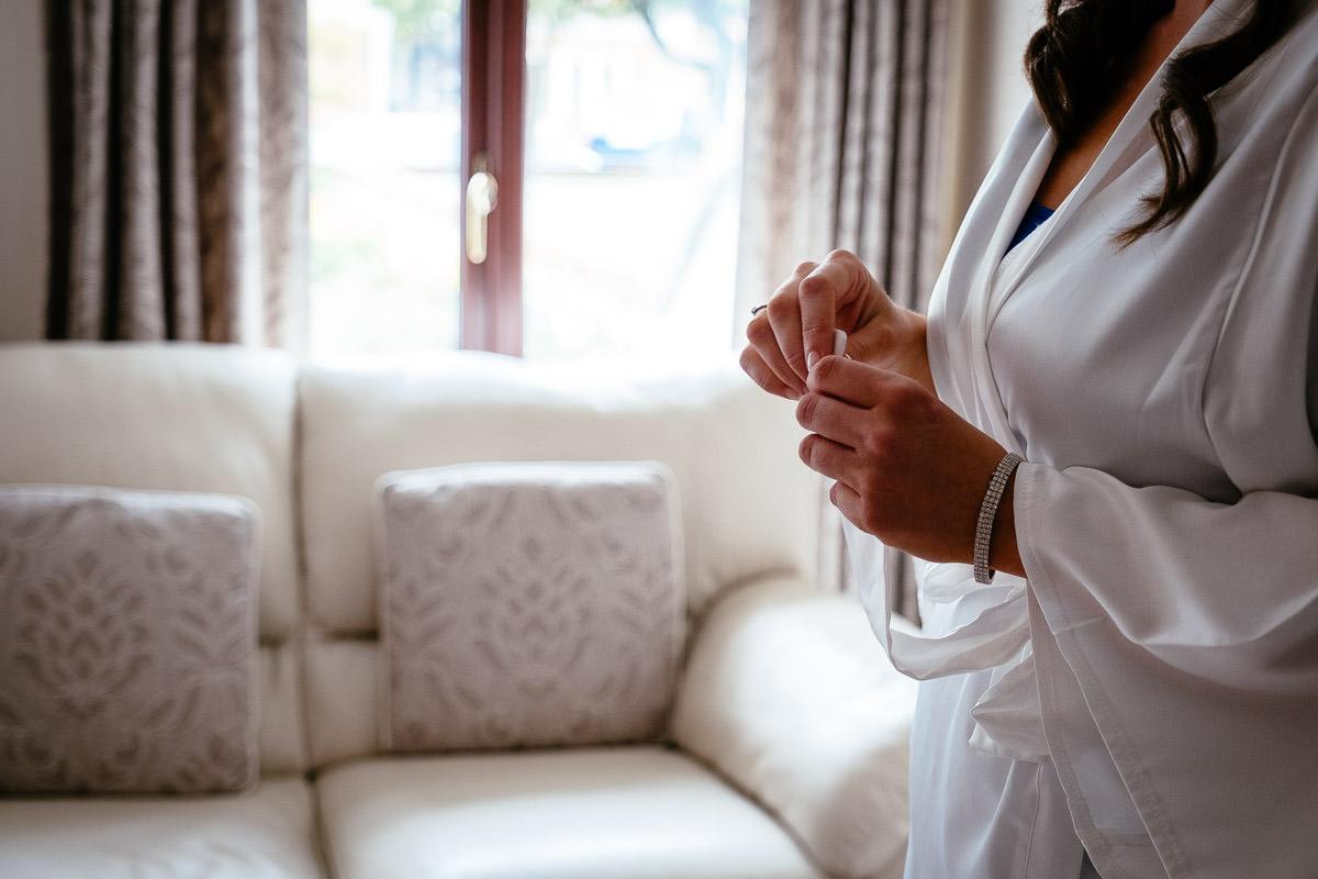 bridal preparations at a K Club Wedding