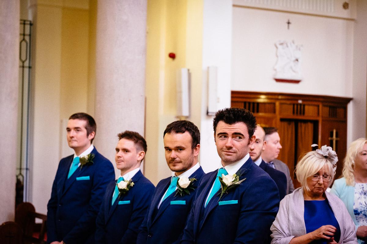 groomsmen at a k club wedding