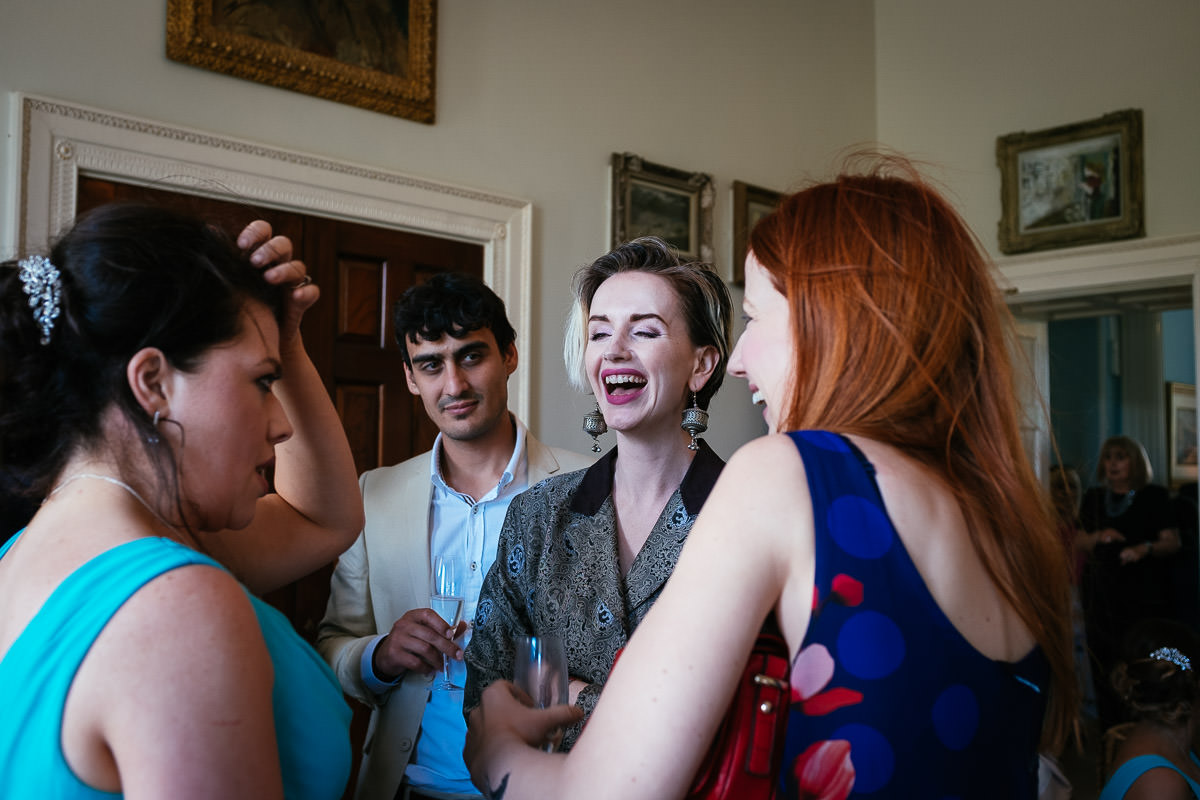 guests laughing at a k club wedding