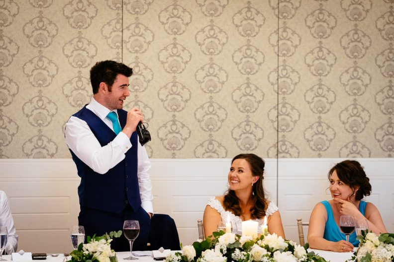 groom speech at a k club wedding