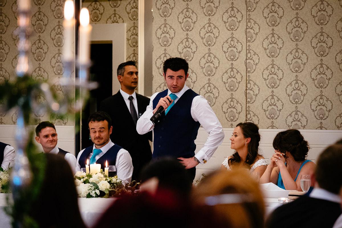 groom speech at a k club wedding