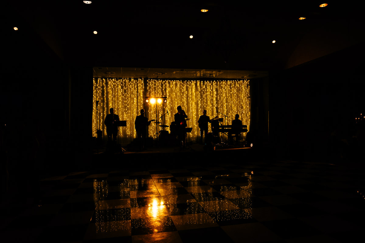 wedding band at a k club wedding