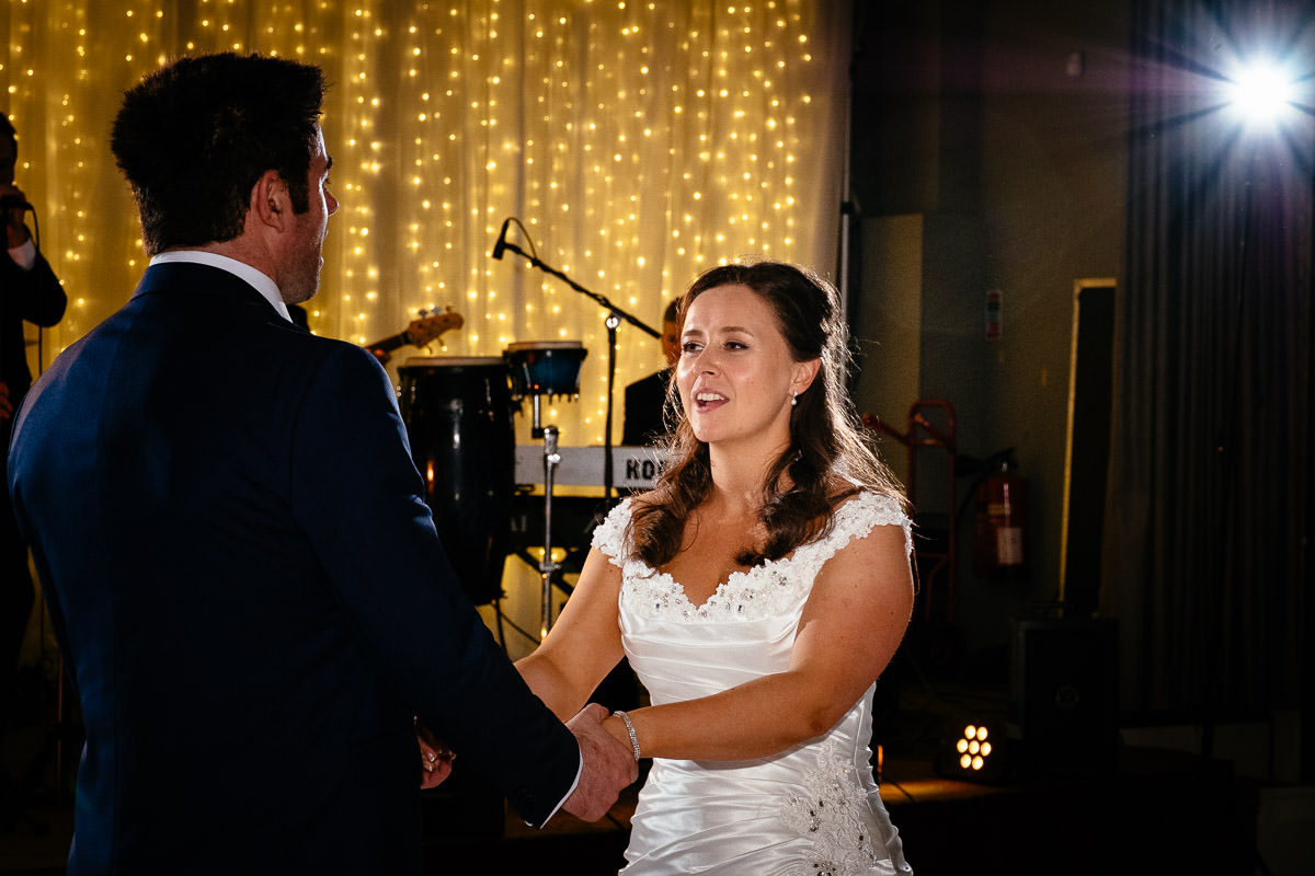 bride and groom first dance at a k club wedding