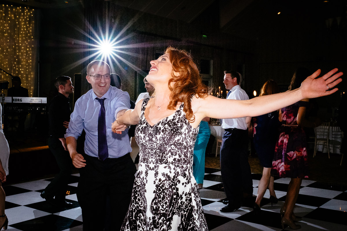 guests dancing at a k club wedding