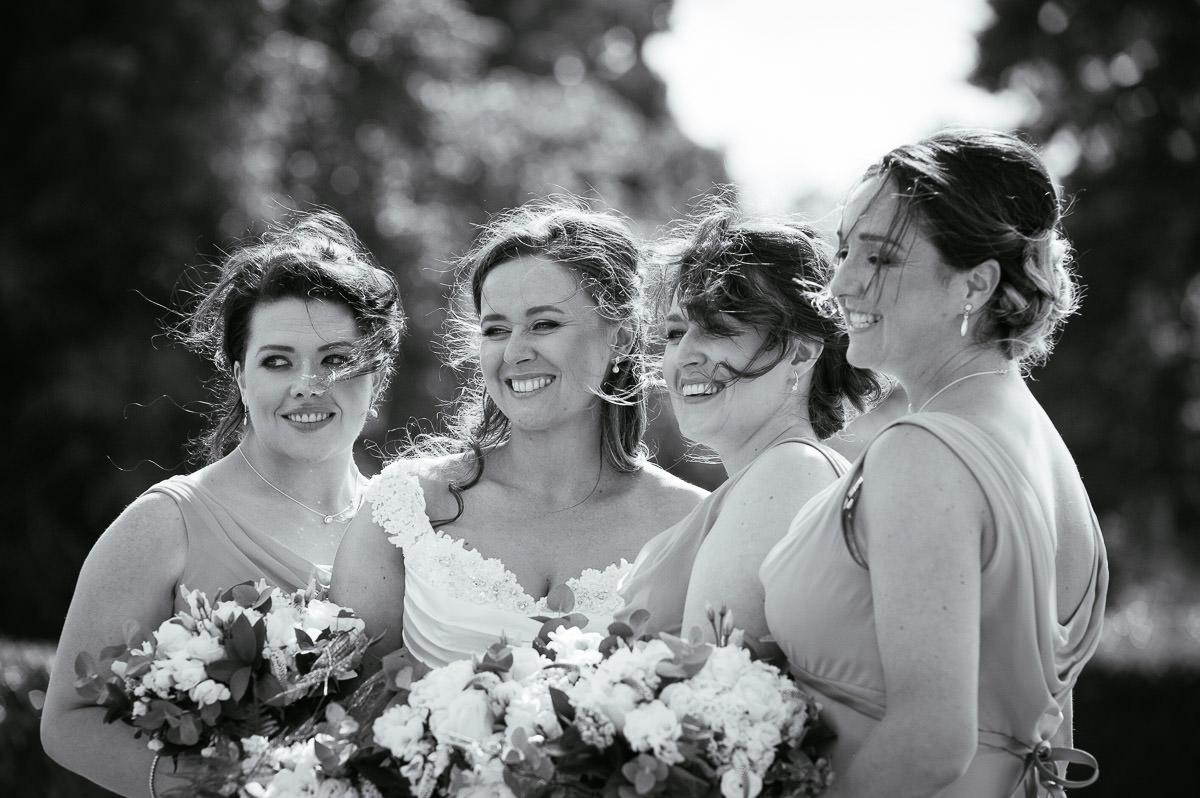 bridemaids at a k club wedding