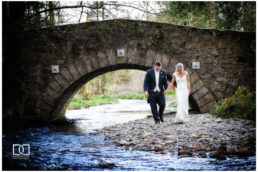 bride and groom during their wedding at brooklodge macreddin village wicklow
