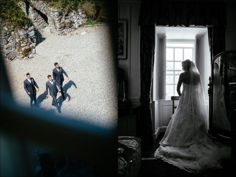 bridal preparations at Huntington Castle Wedding Photography