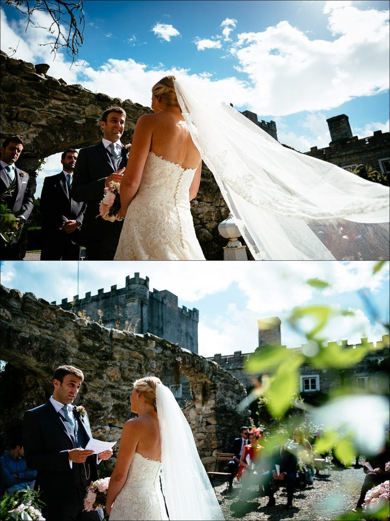 getting married at a ceremony at Huntington Castle Wedding Photography
