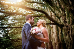 Bride and groom during their Huntington Castle Wedding Photography