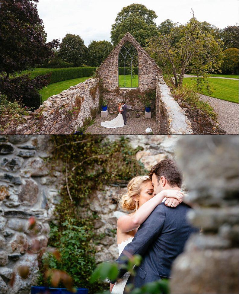 bride and groom photos at their Huntington Castle Wedding