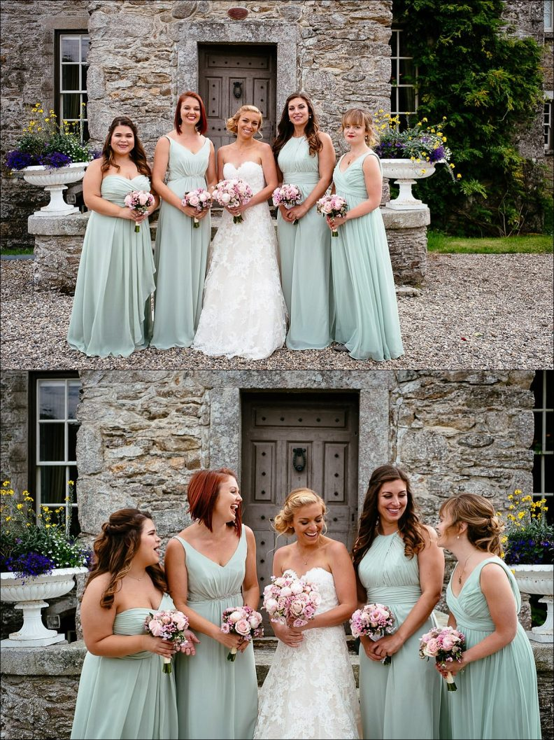 bridal party photos at Huntington Castle Wedding