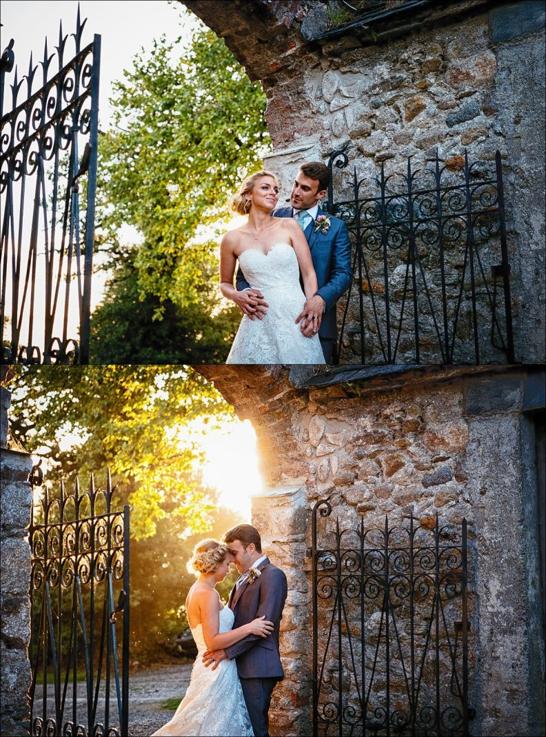 sunset photos at a Huntington Castle Wedding