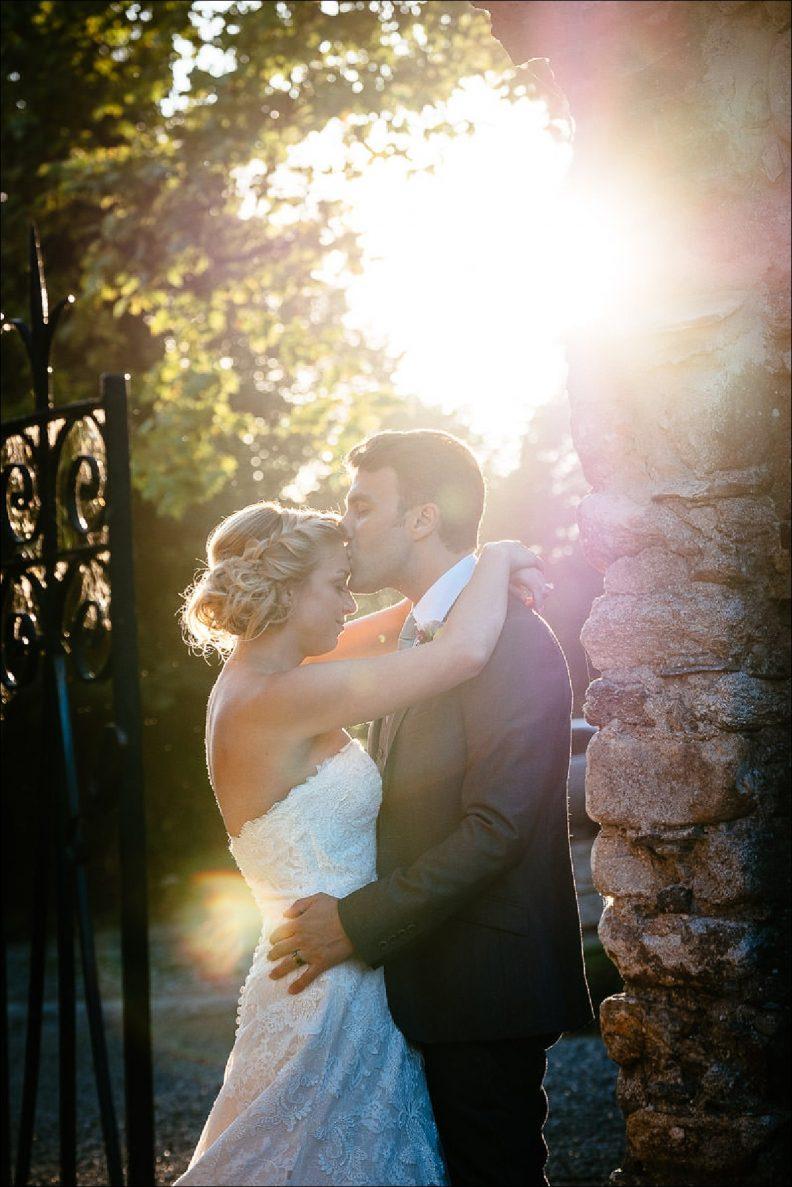 sunset photos at a Huntington Castle Wedding