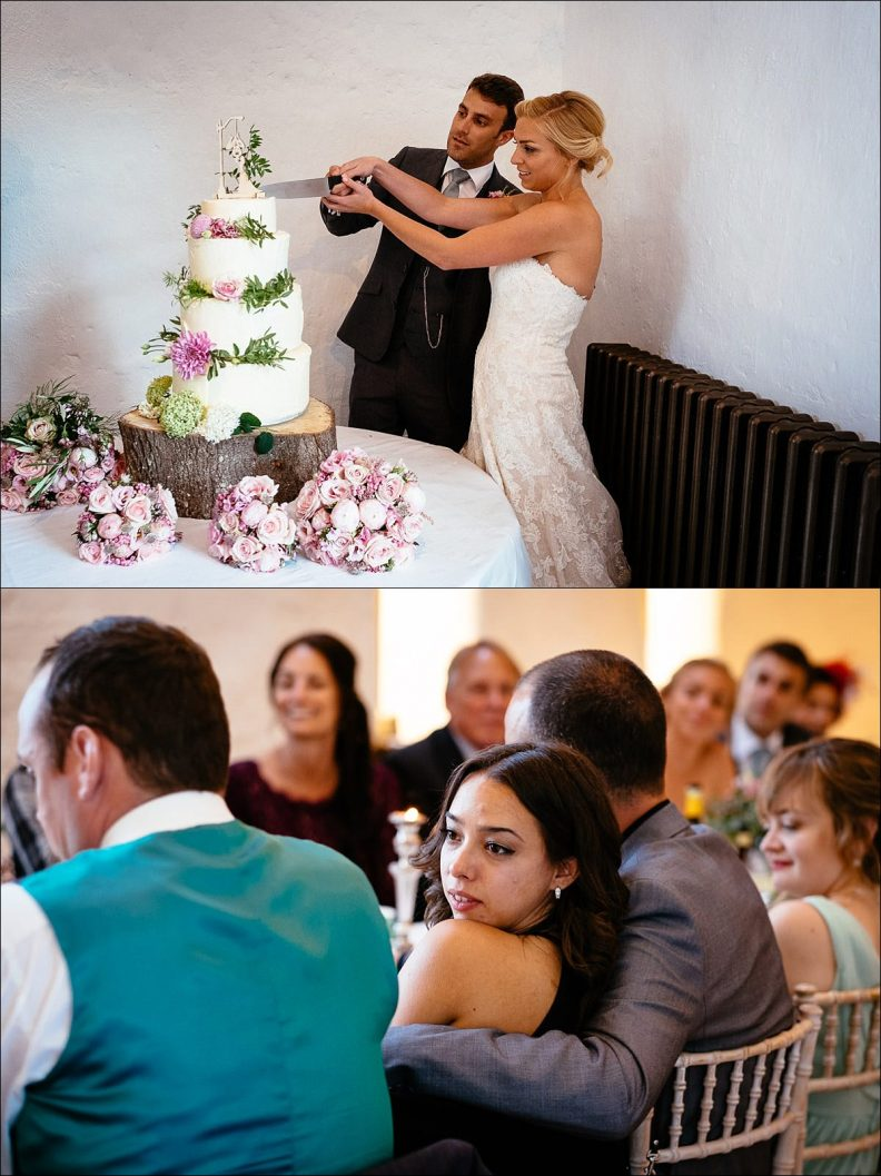 cake cutting at a Huntington Castle Wedding