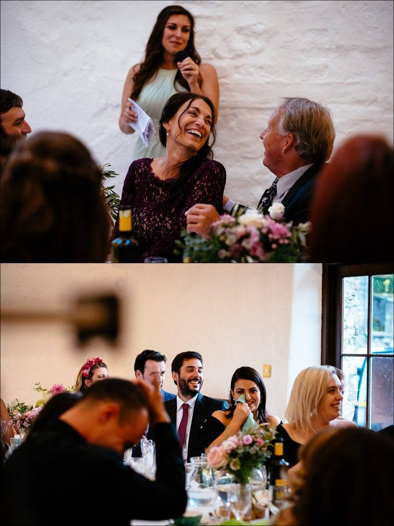 speeches at a Huntington Castle Wedding