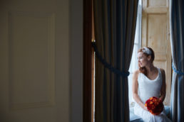 a bride on her wedding day at luttrellstown castle