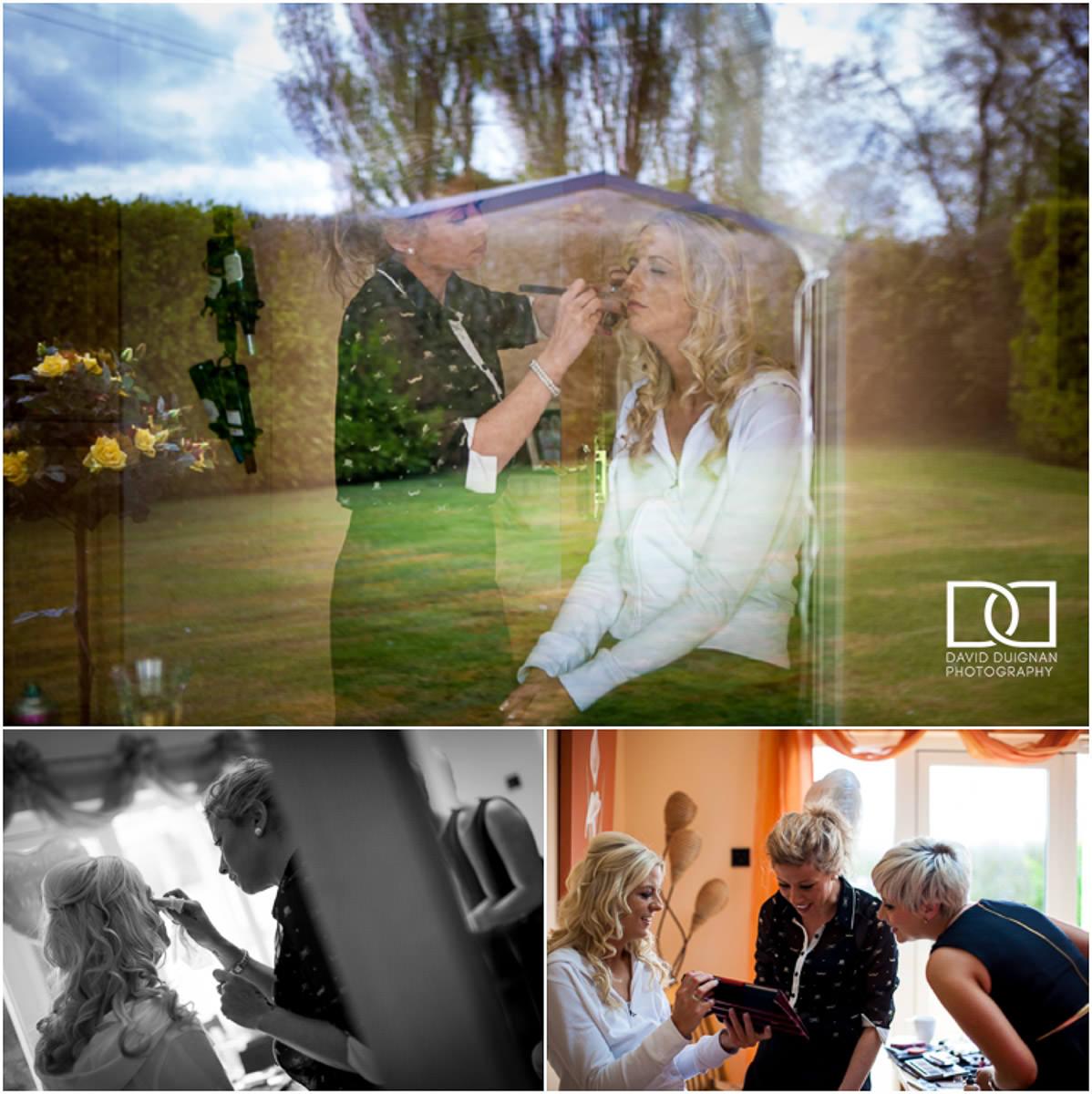 bridal preparations Lyrath estate Wedding