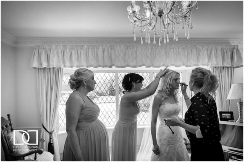bridal preparations Lyrath estate Wedding