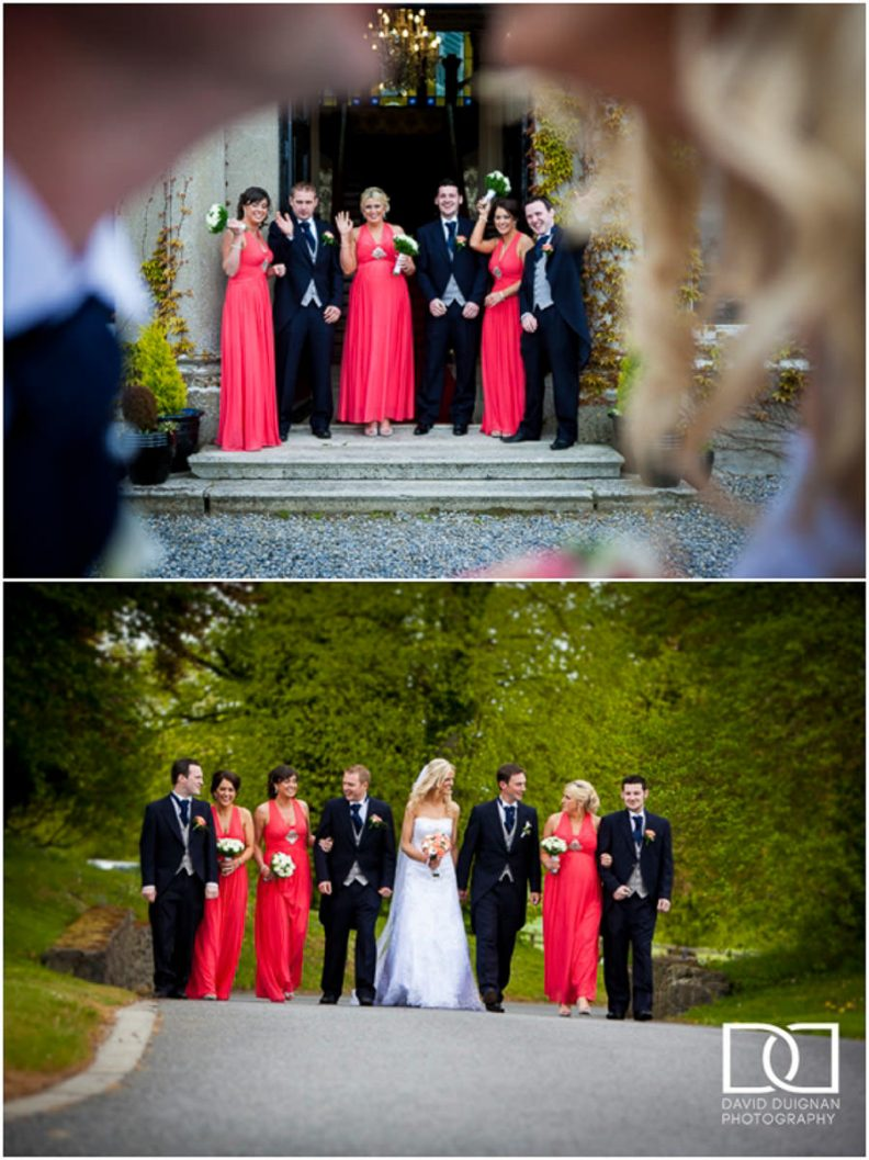 bridal party at a Lyrath estate Wedding