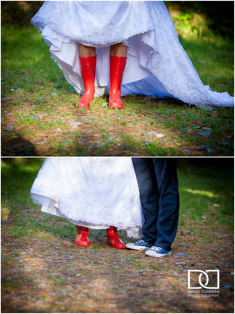 bride and groom at their Lyrath estate Wedding
