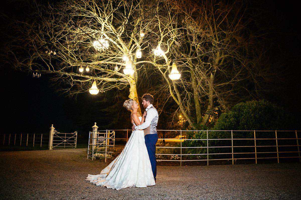 bride and groom at ballymagarvey wedding
