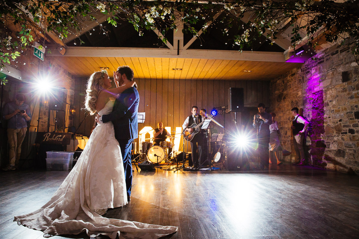 bride and groom first dance at ballymagarvey wedding