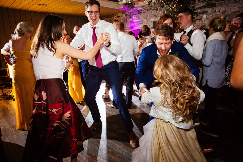 guests dancing at ballymagarvey wedding