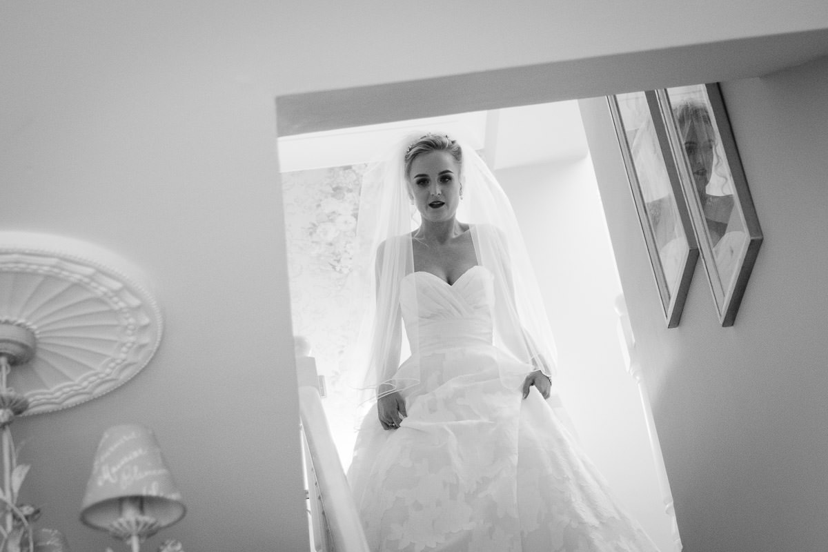 bride coming down stairs ballymagarvey village