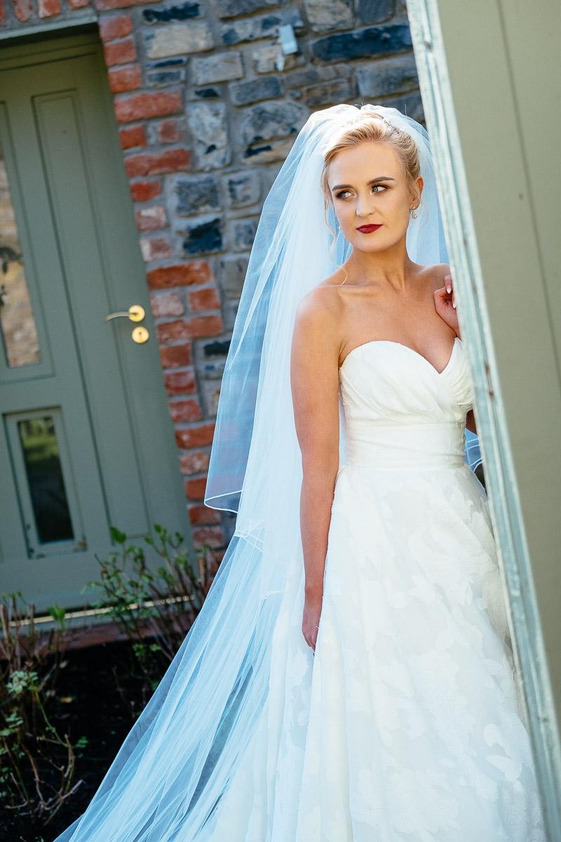 bride at ballymagarvey wedding