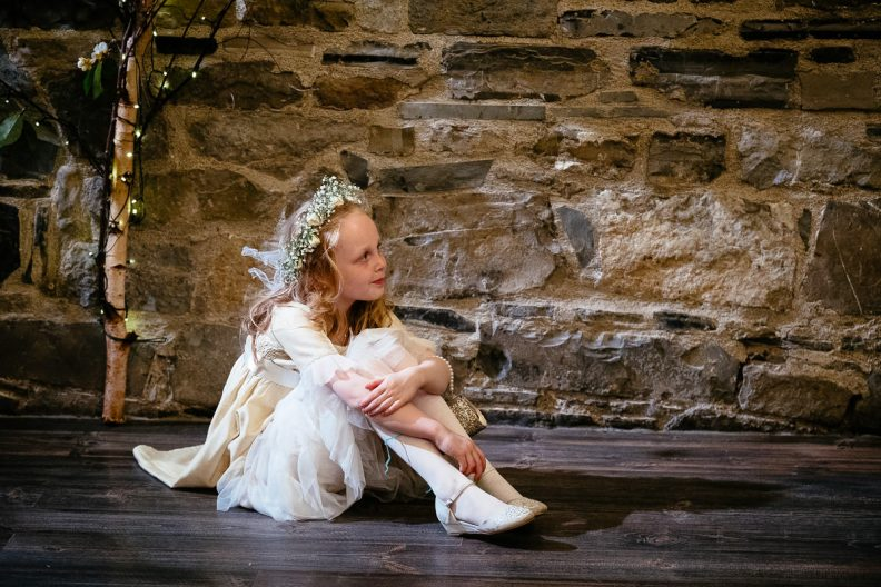 flowergirl at ballymagarvey wedding