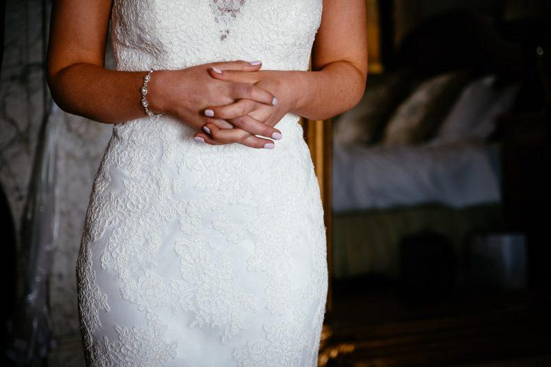 bride at bridal preparations at tinakilly country house wedding