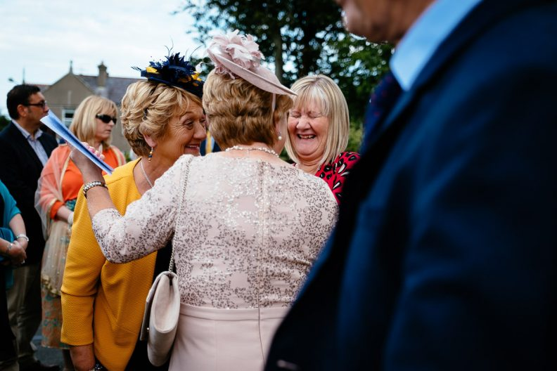 wedding guests at st patricks church wicklow