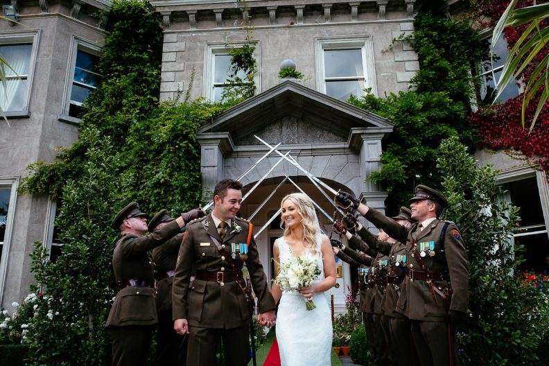 guard of honour at tinakilly country house wedding