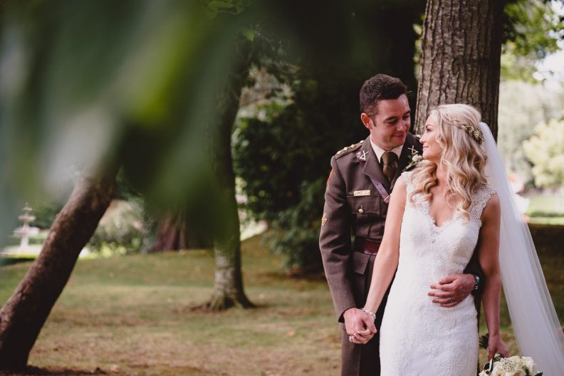 bride and groom at tinakilly country house wedding