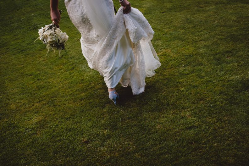 wedding dress at tinakilly country house wedding