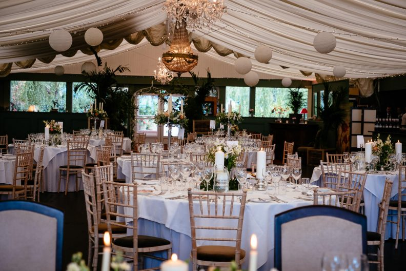 reception setup at tinakilly country house wedding