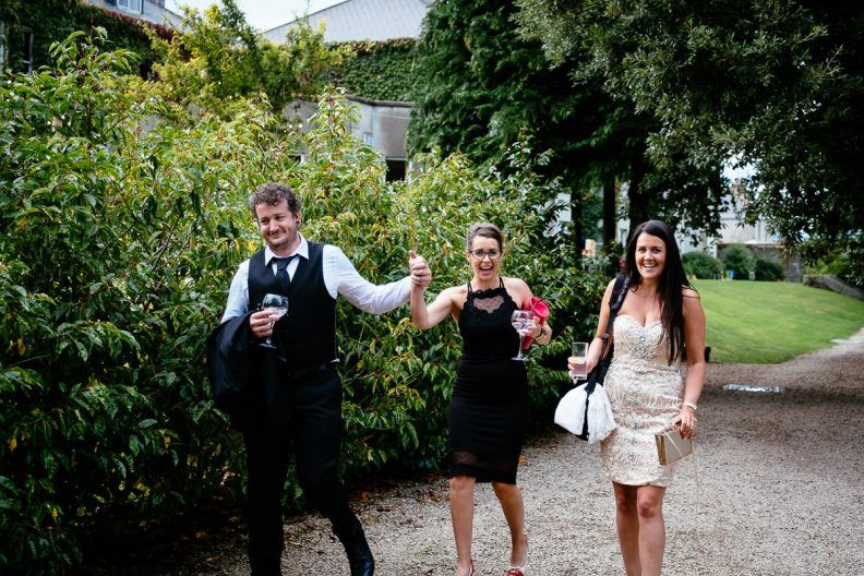 wedding guests at tinakilly country house wedding