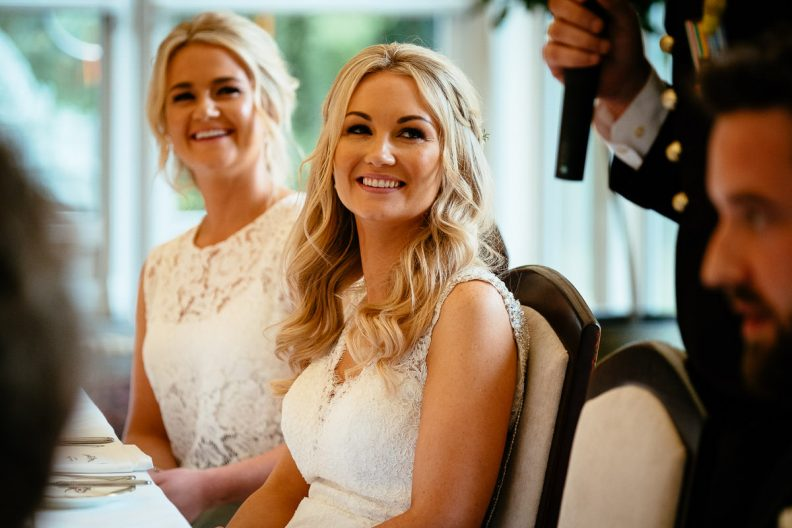 bride smiling at her tinakilly country house wedding