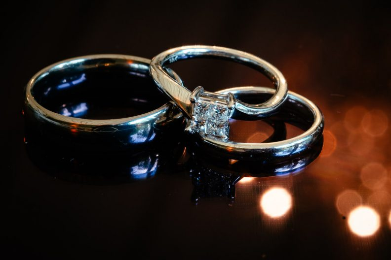 wedding rings at tinakilly country house wedding