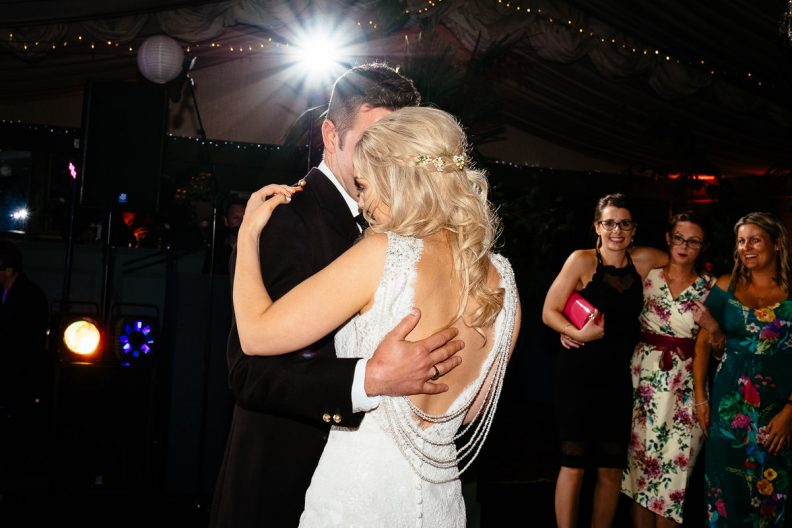 bride and groom first dance at tinakilly country house wedding